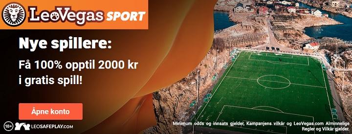 Velkomstilbud Sport fra LeoVegas